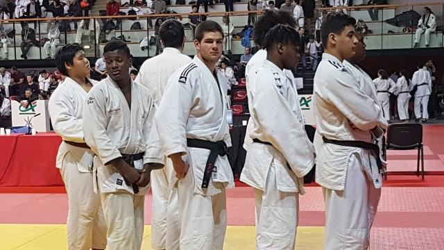 Athlète du Judo Club Dourdan durant la phase qualificative aux championnats de France 2018
